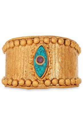 SYLVIA TOLEDANO Gold-tone, turquoise and amethyst bracelet