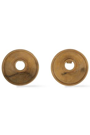 MARNI Monile burnished gold-plated clip earrings
