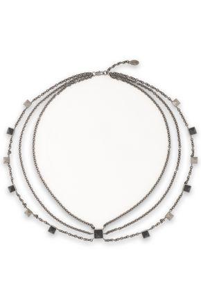VALENTINO GARAVANI Gunmetal-tone studded necklace