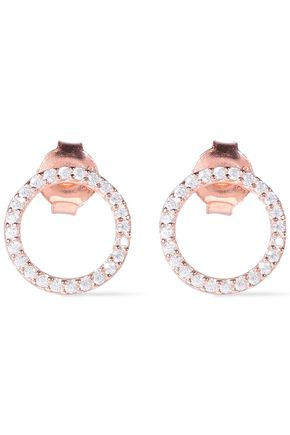 AAMAYA by PRIYANKA Rose gold-plated sterling silver topaz earrings