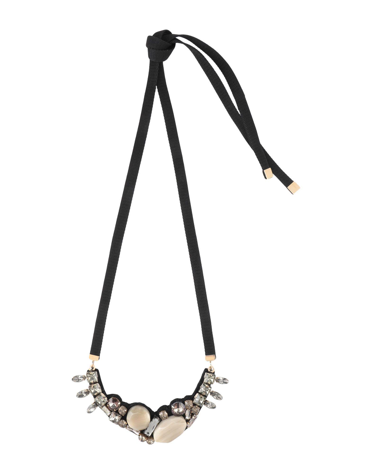 《セール開催中》MARNI レディース ネックレス ベージュ 紡績繊維 / 石