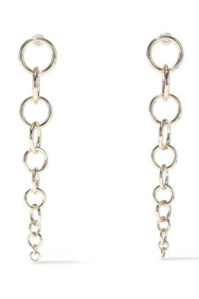 KENNETH JAY LANE 22-karat gold-plated earrings