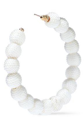 KENNETH JAY LANE Gold-tone cord hoop earrings