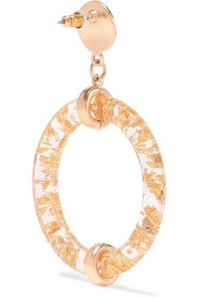 KENNETH JAY LANE Gold-plated resin hoop earrings