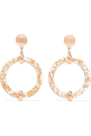 KENNETH JAY LANE Gold-plated resin hoop earrings