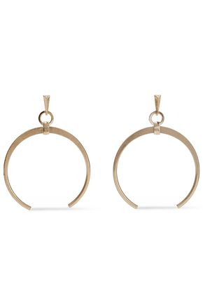 KENNETH JAY LANE Burnished gold-tone earrings