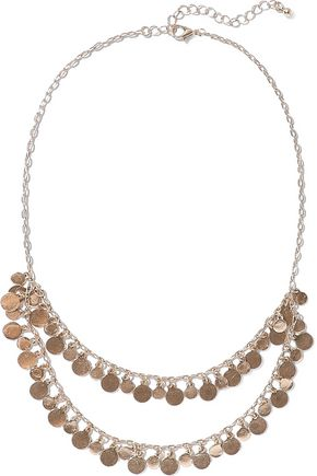 KENNETH JAY LANE 14-karat gold-plated necklace