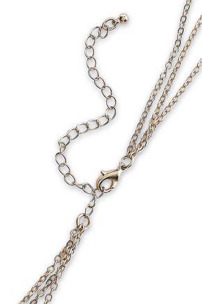 KENNETH JAY LANE 22-karat gold-plated necklace