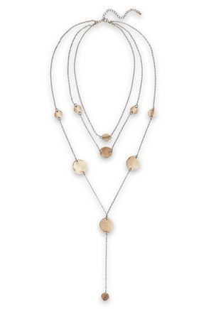KENNETH JAY LANE 22-karat gold-plated necklace