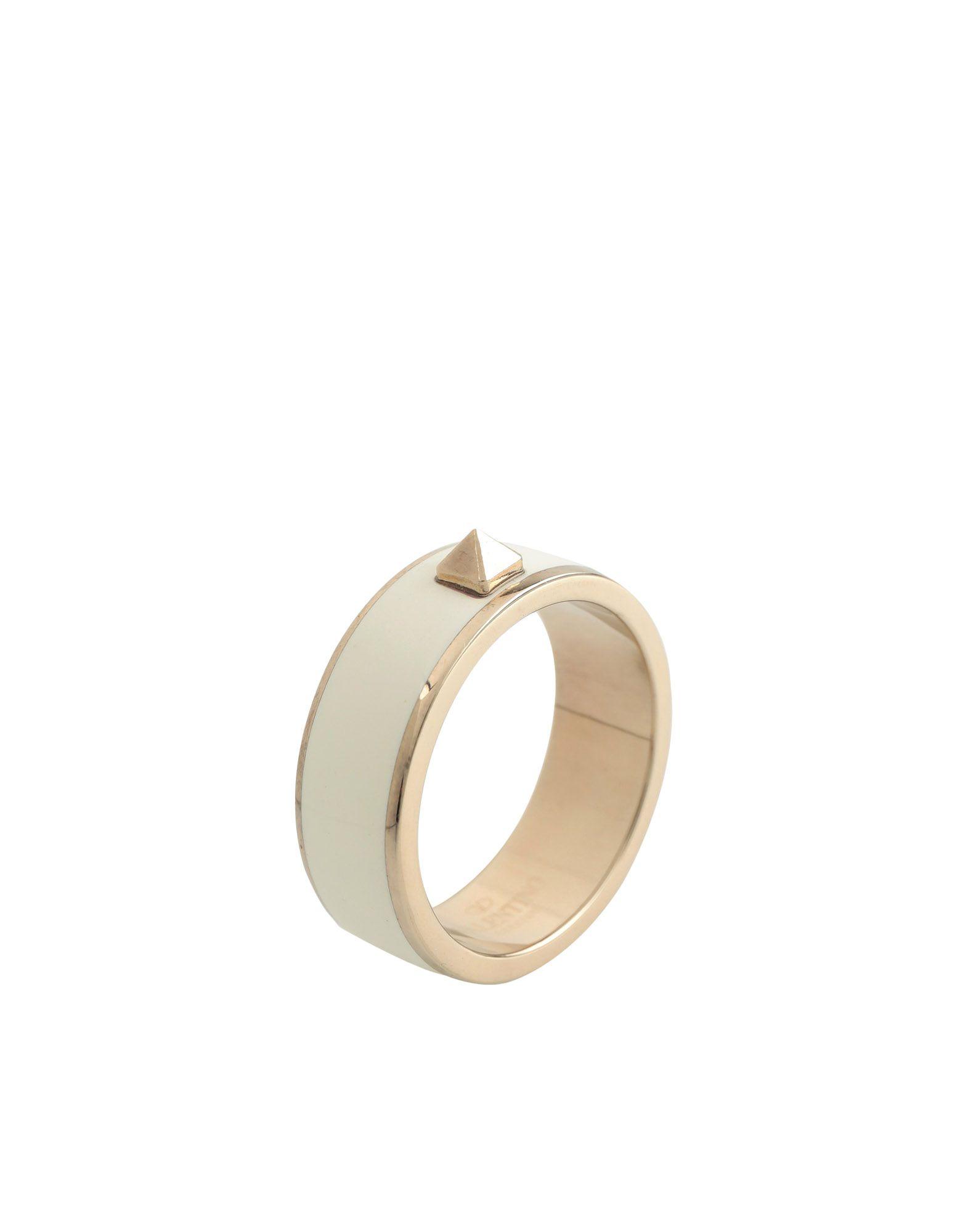 《セール開催中》VALENTINO GARAVANI メンズ 指輪 ホワイト L 金属