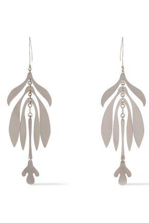 SIAN EVANS Rhodium-plated earrings