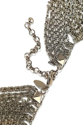 IOSSELLIANI Silver-tone, crystal and stone necklace