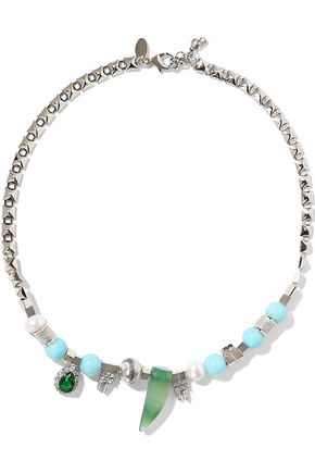 IOSSELLIANI Silver-tone multistone necklace