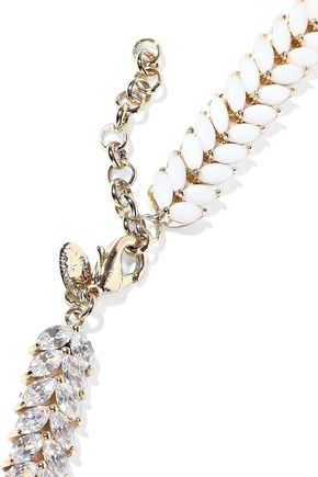 IOSSELLIANI Gold-tone, crystal and stone necklace