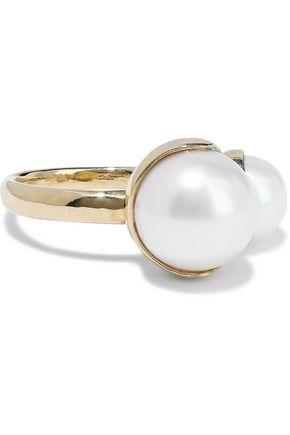 MIZUKI 14-karat gold freshwater pearl ring