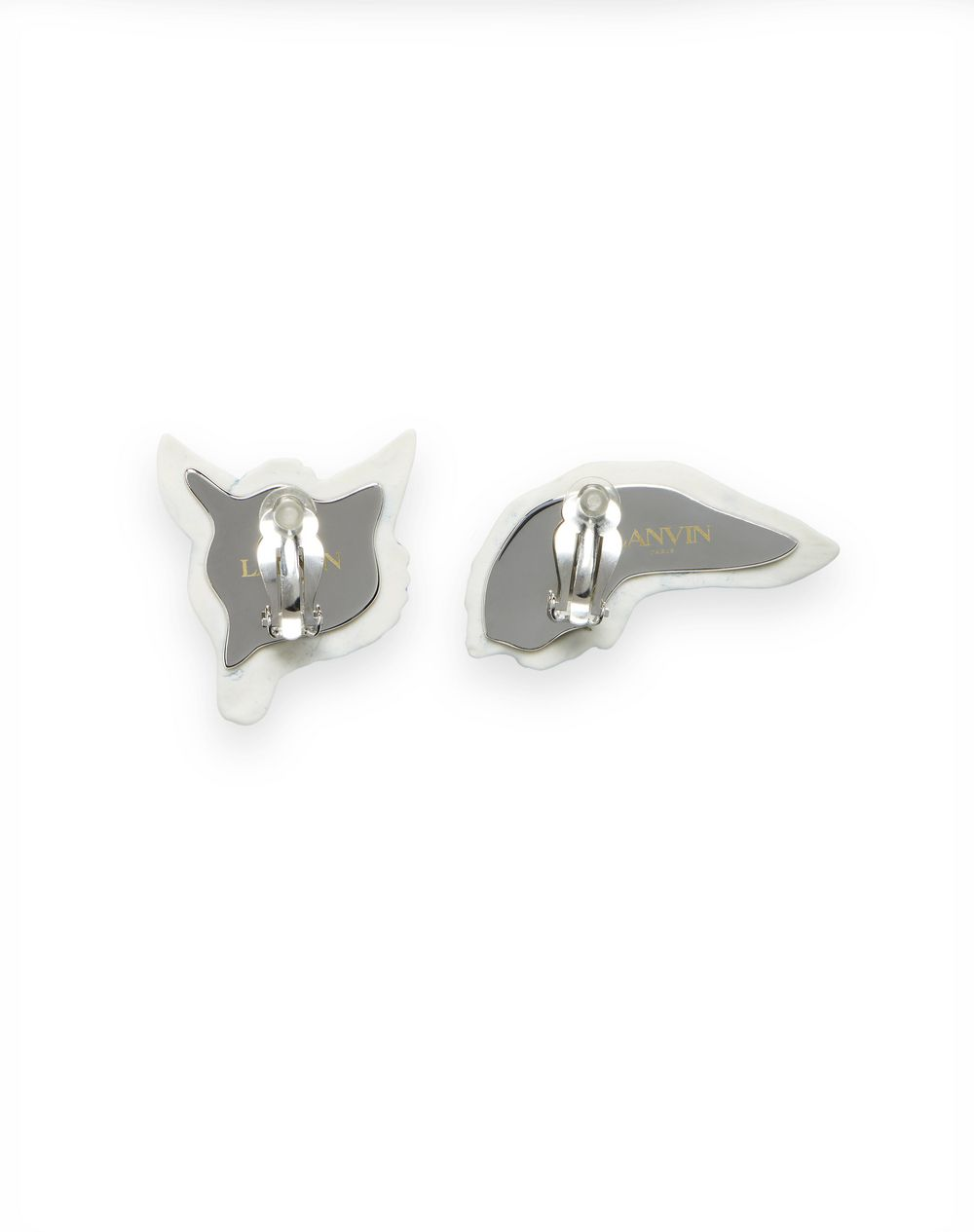 CERAMIC FOX CLIP EARRINGS - Lanvin