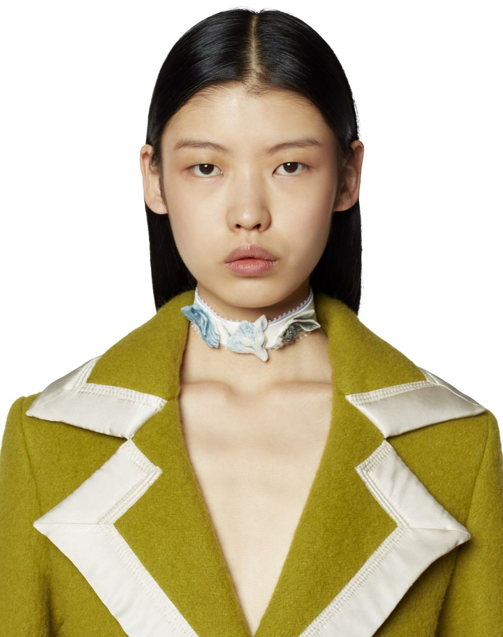 LEATHER AND CERAMIC CHOKER - Lanvin