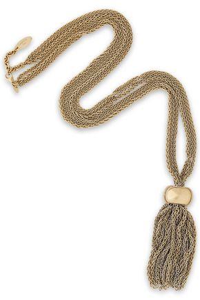 LANVIN Gold-tone tasseled necklace