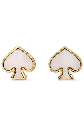 KATE SPADE New York Gold-tone mother-of-pearl earrings