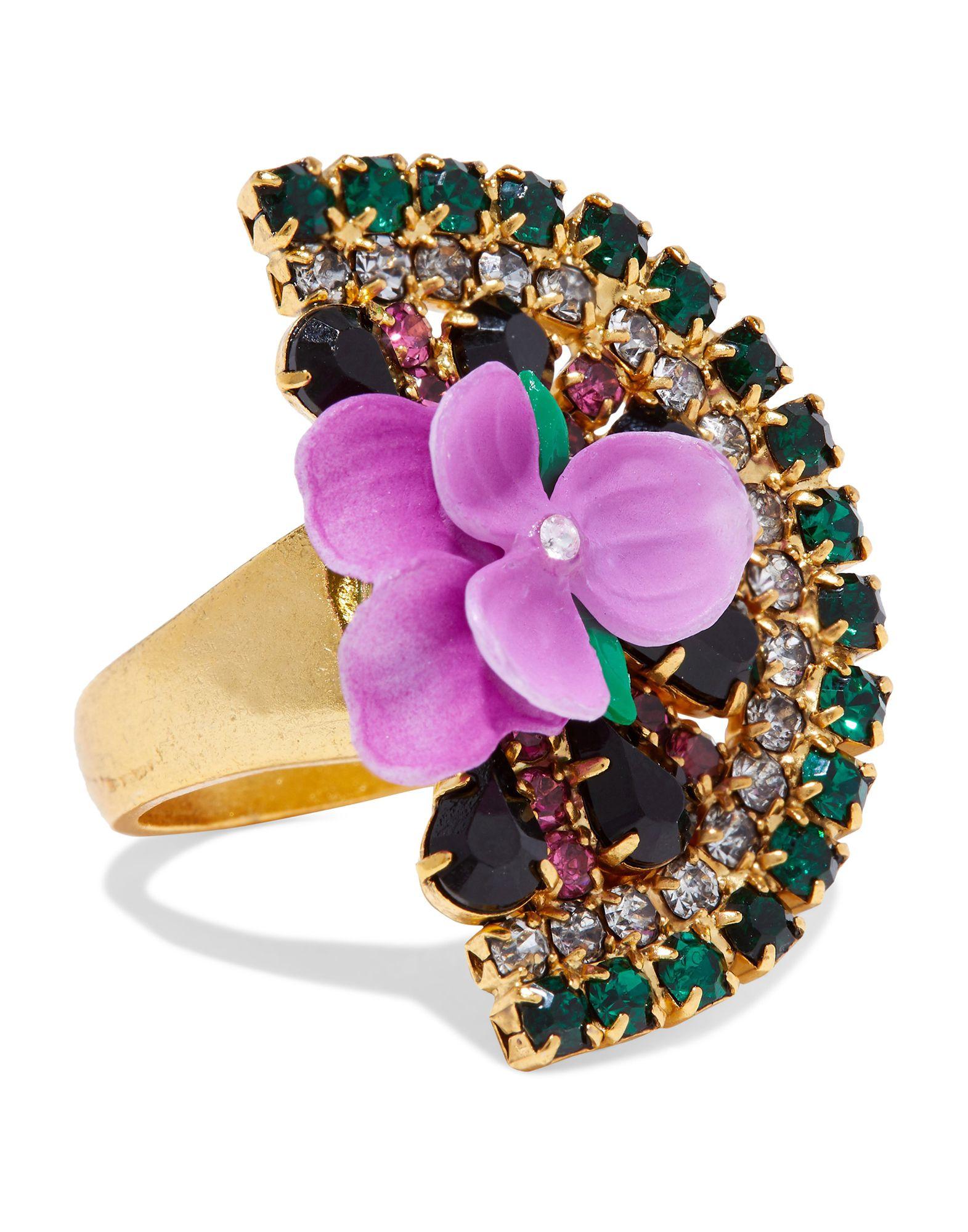 《セール開催中》ELIZABETH COLE レディース 指輪 グリーン one size 金属