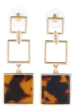 BEN-AMUN Gold-tone acrylic earrings