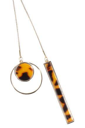 BEN-AMUN 24-karat gold-plated tortoiseshell acetate necklace