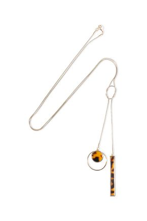 BEN-AMUN 24-karat gold-plated tortoiseshell acetate necklace
