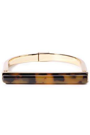 BEN-AMUN 24-karat gold-plated tortoiseshell acetate cuff