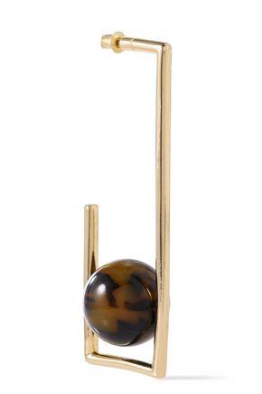 BEN-AMUN 24-karat gold-plated tortoiseshell acrylic earrings