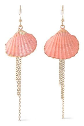 KENNETH JAY LANE Gold-tone painted earrings