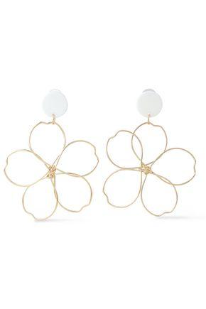 KENNETH JAY LANE Gold-tone acetate earrings