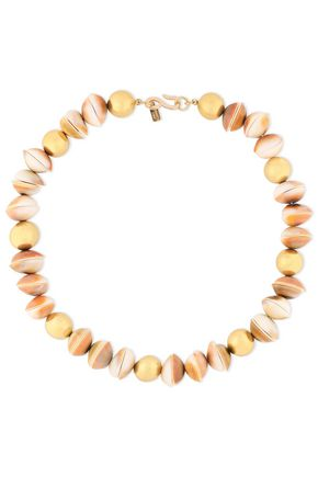 KENNETH JAY LANE Gold-plated shell necklace