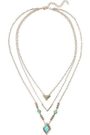 NOIR JEWELRY 14-karat gold-plated stone necklace