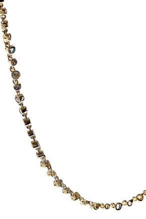 NOIR JEWELRY 14-karat gold-plated crystal necklace