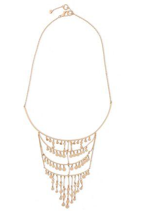 NOIR JEWELRY Gavitella 14-karat gold-plated necklace