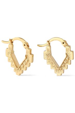 NOIR JEWELRY 14-karat gold-plated earrings