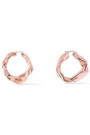 JIL SANDER Rose gold-tone hoop earrings
