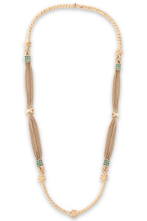 AURÉLIE BIDERMANN 18-karat gold-plated turquoise necklace