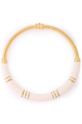 AURÉLIE BIDERMANN 18-karat gold-plated enamel necklace