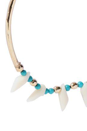 AURÉLIE BIDERMANN 18-karat gold-plated, turquoise and resin earrings
