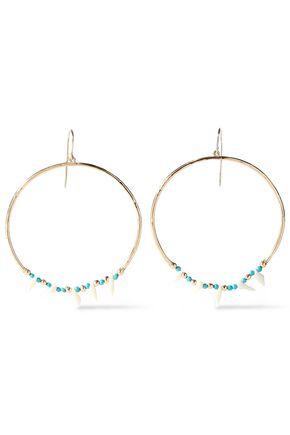 AURÉLIE BIDERMANN Gold-plated, turquoise and resin earrings
