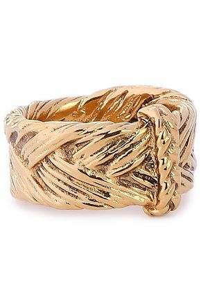 AURÉLIE BIDERMANN 18-karat gold-plated ring