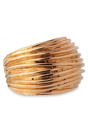 AURÉLIE BIDERMANN 18-karat gold-plated ring