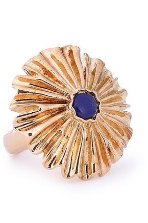 AURÉLIE BIDERMANN Gold-plated lapis lazuli ring