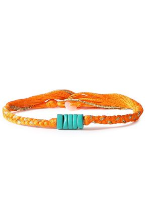 AURÉLIE BIDERMANN Braided cord and turquoise bracelet