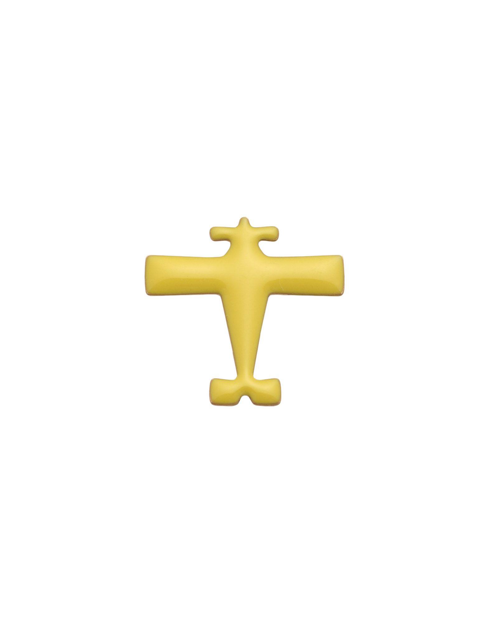 《セール開催中》TITLEE レディース ブローチ イエロー 真鍮/ブラス / エナメル