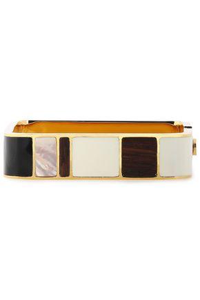 TORY BURCH Gold-tone enamel bangle