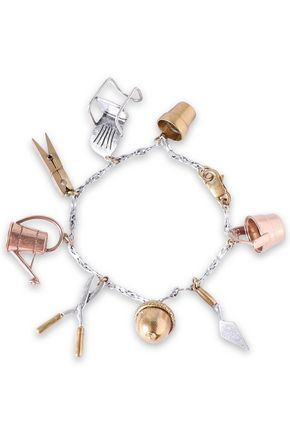 TORY BURCH Gold, silver and rose gold-tone bracelet