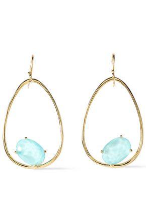 IPPOLITA 18-karat gold quartz earrings