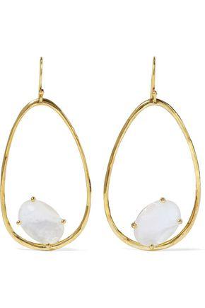 IPPOLITA Rock Candy 18-karat gold, mother-of-pearl and quartz earrings